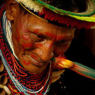 Medicine man in Ecuador